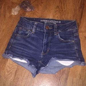 AE high rise shortie size 0